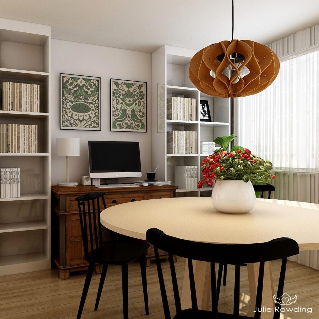 scandinavian living room e-design