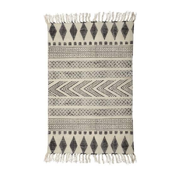 block rug boho style