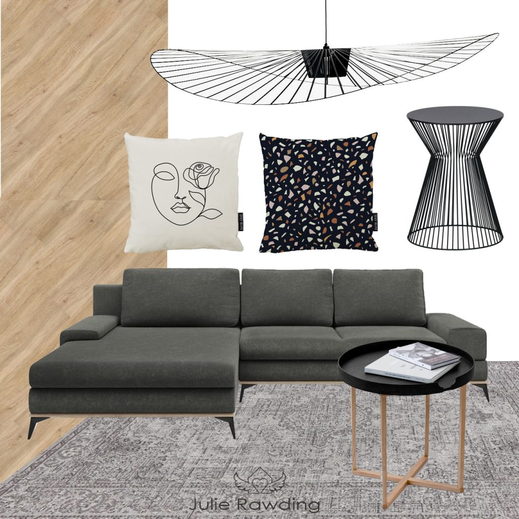 e-design moodboard scandinavian living room