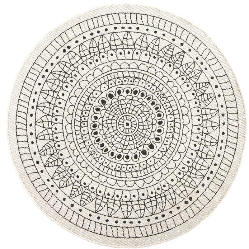 scandinavian rugs - round rug