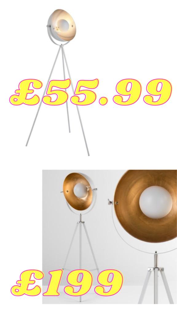 great deal white floor lamp