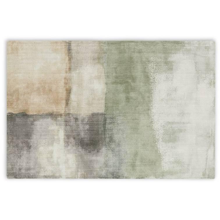 Green living room - rug