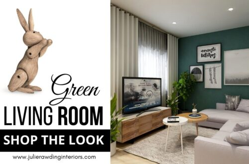 green living room shop the look