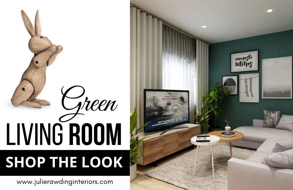 green living room shop the look