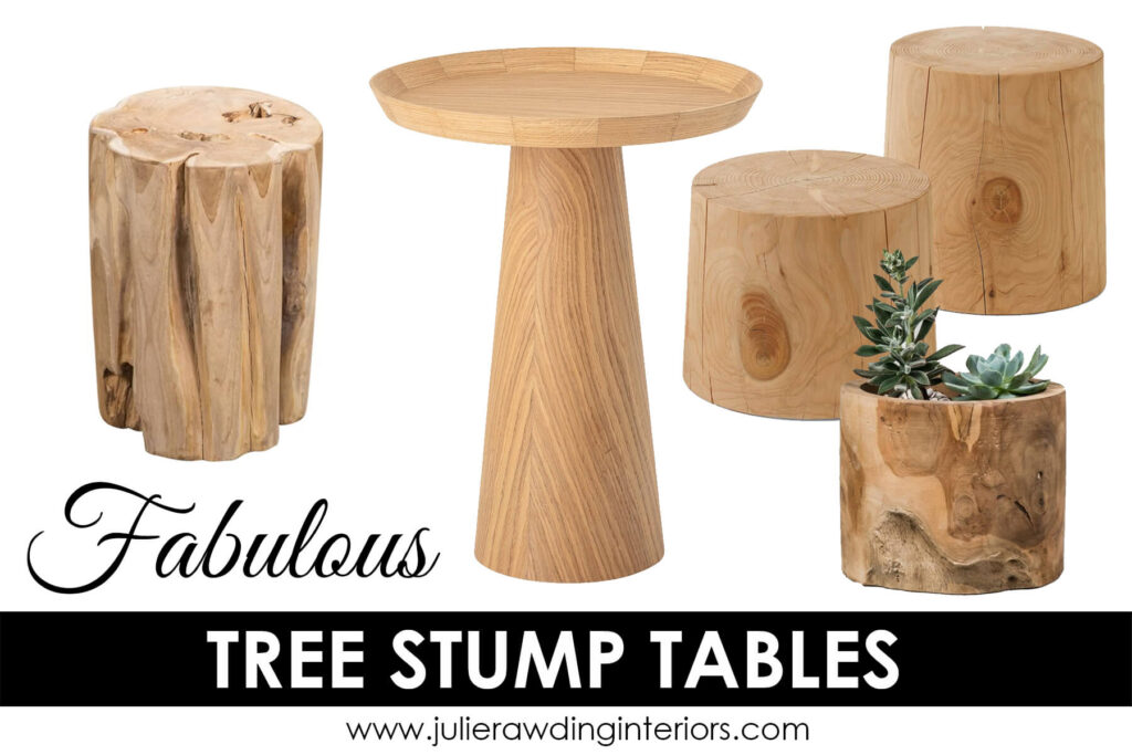 The Best natural tree stump table Ever!