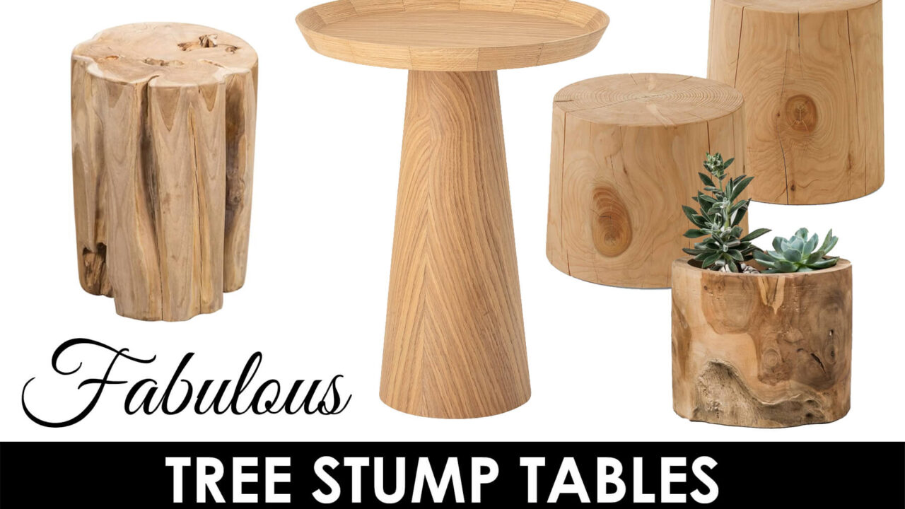 tree stump table title