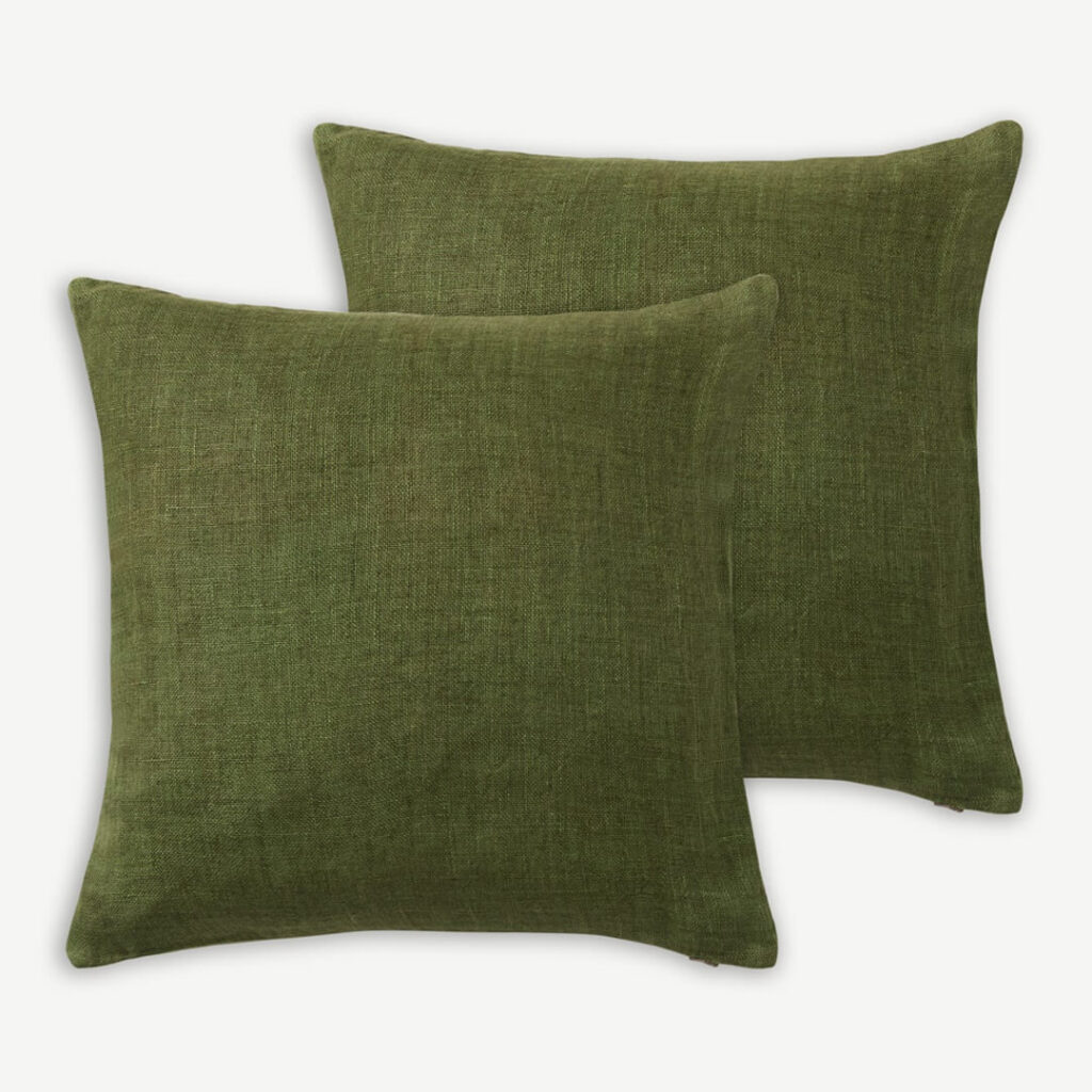 set of green cushions - Year of the Metal Ox