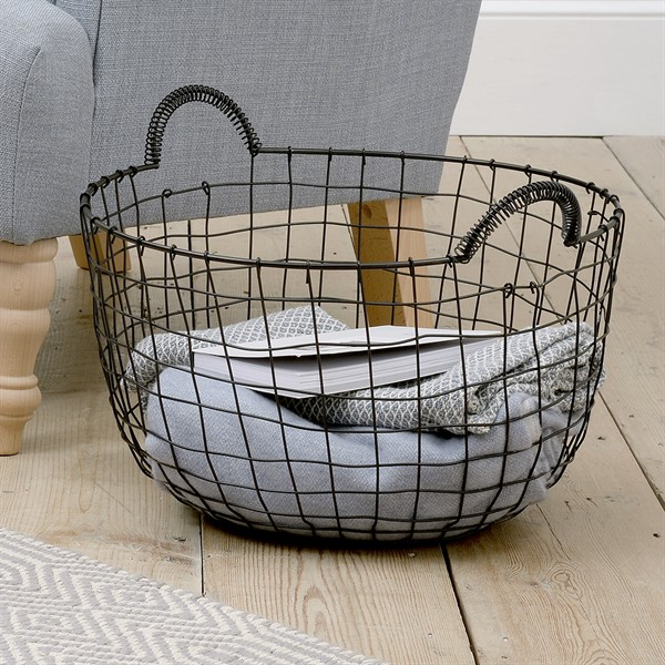 Design your own home with a holistic approach - wire basket
