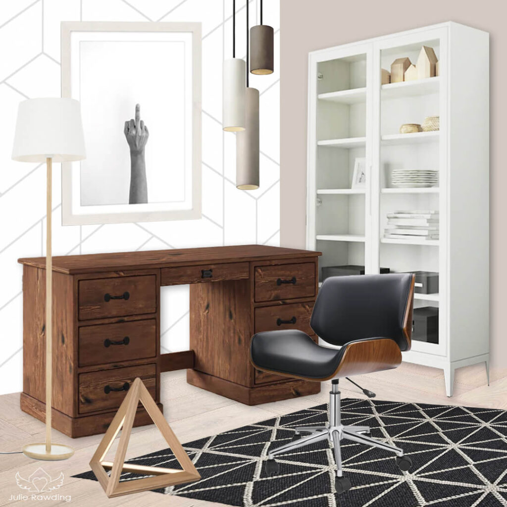 set up your home office - concept board