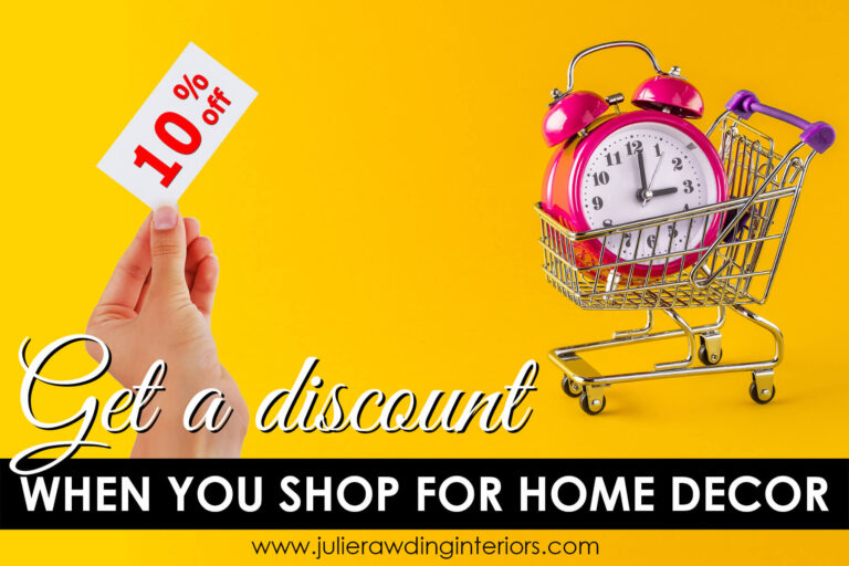 get a discount when you shop for home decor