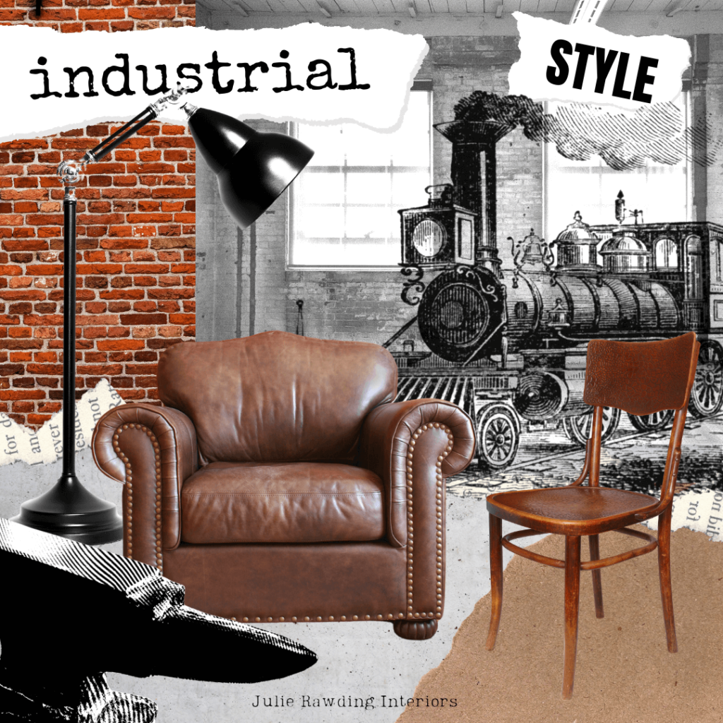 healthy home - industrial theme collage