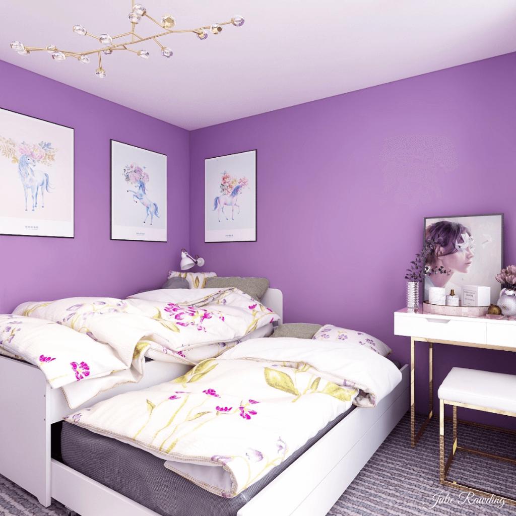 purple bedroom 3d design 02
